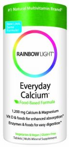Rainbow Light Everyday Calcium, 1200 Mg Calcium & Magnesium, 120 Tablets, (pack Of 2)