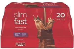 Health Supplements - SlimFast Rich Chocolate Royale Ready To Drink Shakes, 20 Count