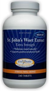 "St. John""s Wort Extract Enzymatic Therapy Inc. 240 Tabs"