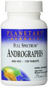 Planetary Herbals Full Spectrum Andrographis, 400 Mg, Tablets , 120 Tablets