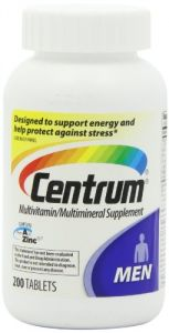 "Centrum Men""s Multivitamin/multimineral Supplement, 200 Tablets"