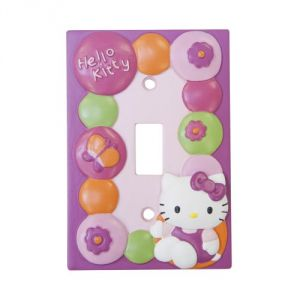 Lambs & Ivy Hello Kitty Garden Switch Plate, Pink