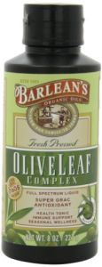 "Barlean""s Organic Oils Olive Leaf Complex Immune Support Liquid, 8 Ounce"