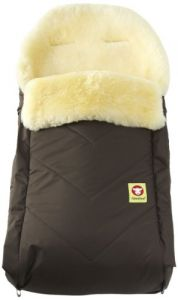 Fareskind Baby Go Comfy Sheepskin Bunting Bag, Brown, 6-36 Months