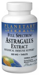 Planetary Herbals Full Spectrum Astragalus Extract, 500 Mg, Tablets , 120 Tablets (pack Of 2)