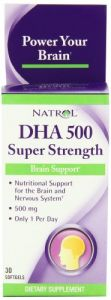 Natrol Dha 500mg Super Strength Softgels, 30-count