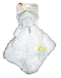 Blankets & Beyond White Teddy Bear Blanket