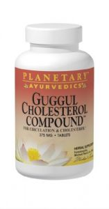 Planetary Herbals Guggul Cholesterol Compound Ayurvedic, 375 Mg, 180 Count