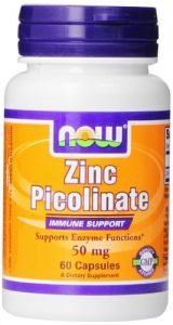 Now Foods Zinc Picolinate, 50mg, 60 Capsules