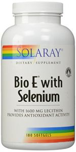 Solaray Bio E With Selenium 400iu Supplement, 180 Count