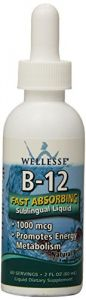 Wellesse Sublingual Liquid Vitamin Supplement, Vitamin B-12, 2 Ounce