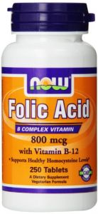 Now Foods Folic Acid 800mcg, 250 Tablets