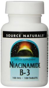 Source Naturals Niacinamide 100mg, 100 Tablets