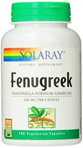 Solaray Fenugreek Seeds, 620 Mg, 180 Count
