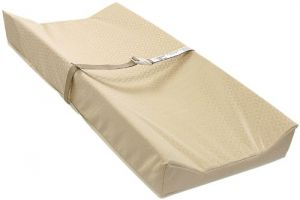 L A Baby Contour Organic Changing Pad, Gold, 32