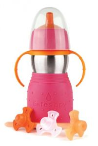 The Safe Sippy 2 2-in-1 Sippy To Straw Bottle, Pink