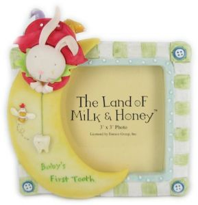 The Land Of Milk & Honey Babys First Tooth Frame By Enesco