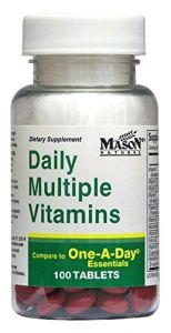 Mason Natural Daily Multiple Vitamins Compare To One A Day Essentials Tablets - 100 Ea