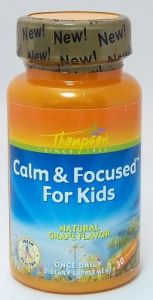 Thompson Nutritional Products Calm & Focused For Kids Grape