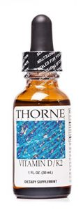 Thorne Research - Vitamin D/k2 Liquid - 1 Fl. Oz. (30 Ml)