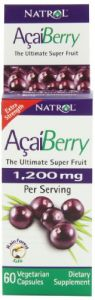 Natrol Acaiberry 1200mg Vegetarian Capsules, 60-count