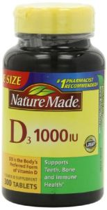 Nature Made Vitamin D3 1000 Iu Value Size 300-count Tablets