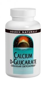 Source Naturals Calcium D-glucarate 500mg, 30 Tablets