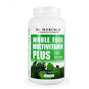 Dr. Mercola Whole Food Multivitamin Plus Vital Minerals - Over 50 Nutritional Ingredients - Antioxidant Formula - 240 Tablets