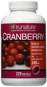 Trunature Cranberry 300 Mg With Shanstar Concentrated Extract - 220 Softgels