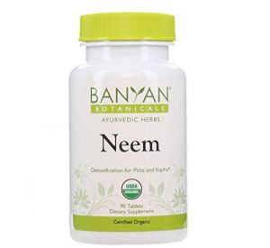 Banyan Botanicals Neem - Certified Organic, 90 Tablets - Detoxification For Pitta & Kapha