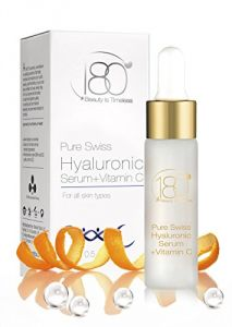 180 Cosmetics Pure Swiss Hyaluronic Acid Serum With Vitamin C, 0.5 Oz.