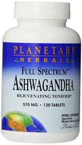 "Planetary Herbals Full Spectrum Ashwagandha 570 Mg Tablets"" 120 Tablets"