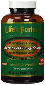 "Life""s Fortune Multivitamin & Mineral All Natural Energy Source Supplying Whole Food Concentrates - 180 Tabs"