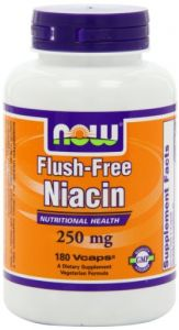 Now Foods Flush Free Niacin 250mg, 180 Capsules