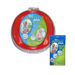Potette Plus Travel Potty Includes Extra 10-pack Of Liners Assorted Colors