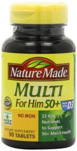 Nature Made Multi For Him 50+ Multiple Vitamin And Mineral Supplement Tablets, 90-count