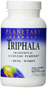 Planetary Herbals Triphala Internal Cleanser Tablets, 1000 Mg, 90 Count