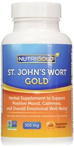 "Nutrigold St. John""s Wort Gold (european Pharma Grade) (clinically-proven), 300 Mg, 180 Veg. Capsules"