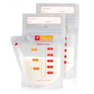Ameda Store N Pour Breast Milk Storage Bags, 40-count
