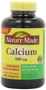 Nature Made Calcium With Vitamin D 500mg, 300 Tablets (pack Of 3)