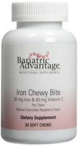 Bariatric Advantage Iron Chewy Bite Chocolate Raspberry Truffle (30 Mg Iron, 60 Mg Vitamin C) 30 Count
