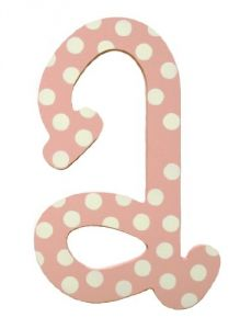My Baby Sam Polka Dot Letter A, Pink-white