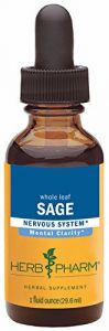 Herb Pharm Certified Organic Sage Extract For Mental Clarity Support - 1 Ounce