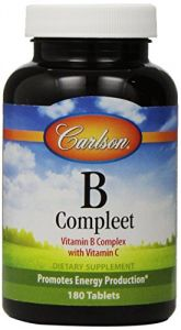 Carlson Labs B-compleet, Vitamin B Complete With Vitamin C, 180 Tablets