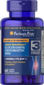 "Puritan""s Pride Double Strength Joint Soother Glucosamine Chondroitin Msm Coated Caplets, 60 Count"