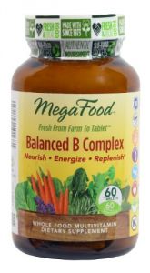 Megafood - Balanced B Complex, Promotes Energy & Health Of The Nervous System, 60 Tablets