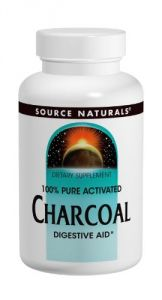 Source Naturals 100% Pure Activated Charcoal 260mg, 200 Capsules (pack Of 2)
