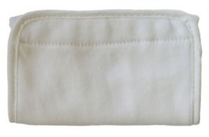 Ergo Teething Pads With Snaps For Baby Carriers - Cream 2 Pack
