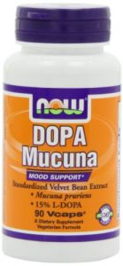 Now Foods Dopa Mucuna Mood Support 15% L-dopa,90 Vcaps