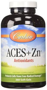 Carlson Labs Aces + Zn Vitamins A,c,e Plus Selenium And Zinc, 360 Softgels